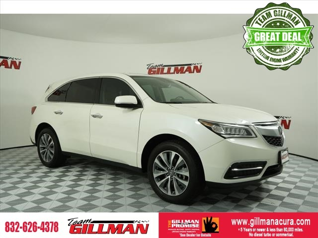 Pre-Owned 2016 Acura MDX w/Tech LEATHER INTERIOR SUNROOF CER
